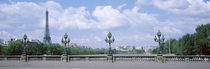 Cloud Over The Eiffel Tower, Pont Alexandre III, Paris, France by Panoramic Images