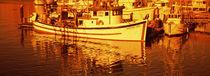 Fishing boats in the bay, Morro Bay, San Luis Obispo County, California, USA von Panoramic Images