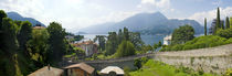 Houses in a town, Villa Melzi, Lake Como, Bellagio, Como, Lombardy, Italy von Panoramic Images