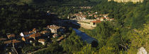 High angle view of a city, Veliko Tarnovo, Yantra River, Bulgaria von Panoramic Images
