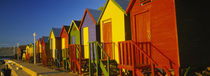 Beach huts in a row, St James, Cape Town, South Africa by Panoramic Images