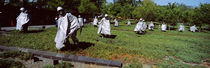 USA, Washington DC, Korean War Memorial, Statues in the field by Panoramic Images