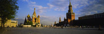 Cathedral at a town square, St. Basil's Cathedral, Red Square, Moscow, Russia by Panoramic Images