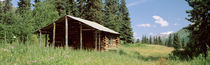 Log Cabin In A Field, Kenai Peninsula, Alaska, USA by Panoramic Images