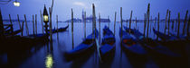 Gondolas moored in a canal, Grand Canal, Venice, Italy von Panoramic Images