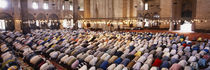 Crowd praying in a mosque, Suleymanie Mosque, Istanbul, Turkey von Panoramic Images