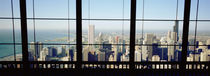High angle view of a city as seen through a window, Chicago, Illinois, USA by Panoramic Images