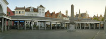 Facade of an old fish market, Vismarkt, Bruges, West Flanders, Belgium by Panoramic Images