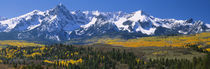 Mountains covered in snow, Sneffels Range, Colorado, USA by Panoramic Images
