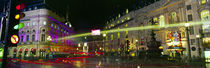 Buildings lit up at night, Piccadilly Circus, London, England von Panoramic Images