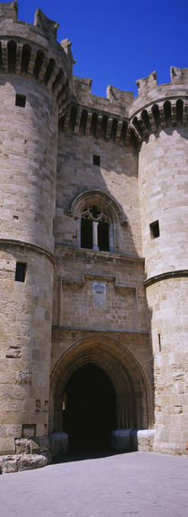 Entrance of a palace, Palace Of The Grand Masters of the Knights, Rhodes, Greece von Panoramic Images