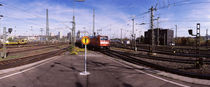 Train at a railroad station, Stuttgart, Baden-Wurttemberg, Germany by Panoramic Images