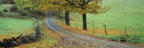 Highway passing through a landscape, Old King's Highway, Woodstock, Vermont, USA by Panoramic Images