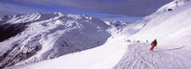 Tourists skiing in a ski resort, Sankt Anton am Arlberg, Tyrol, Austria by Panoramic Images