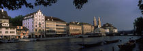 Limmat River, Zurich, Switzerland by Panoramic Images