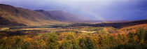Rainbow over Cape Breton Highlands near Cape North, Nova Scotia, Canada von Panoramic Images