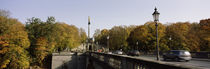 Cars on the bridge, Friedensengel, Munich, Bavaria, Germany by Panoramic Images