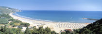 High angle view of the beach, Sperlonga, Lazio, Italy by Panoramic Images