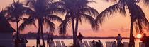 Sunset on the beach, Miami Beach, Florida, USA von Panoramic Images