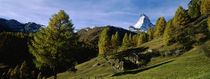 Low angle view of a mountain peak, Matterhorn, Valais, Switzerland von Panoramic Images
