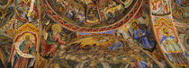 Low angle view of fresco on the ceiling of a monastery, Rila Monastery, Bulgaria by Panoramic Images