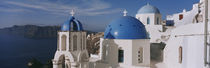 High Angle View Of A Church, Church Of Anastasis, Fira, Santorini, Greece by Panoramic Images