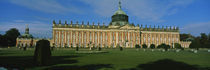Facade of a palace, Sanssouci Palace, Potsdam, Brandenburg, Germany von Panoramic Images
