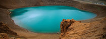 Lake On The Volcano, Blue Lake, Viti Crater, Iceland von Panoramic Images