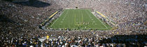 Aerial view of a football stadium, Notre Dame Stadium, Notre Dame, Indiana, USA by Panoramic Images
