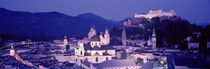 Austria, Salzburg, Panoramic view of the city in dusk by Panoramic Images