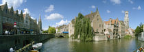 Buildings at the waterfront, Rozenhoedkaai, Bruges, West Flanders, Belgium von Panoramic Images
