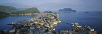 High angle view of a town, Alesund, More og Romsdall, Norway by Panoramic Images