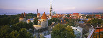 High angle view of a city, Tallinn, Estonia von Panoramic Images