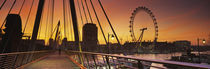 Thames River, Millennium Wheel, City Of Westminster, London, England von Panoramic Images