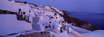 Buildings in a city, Santorini, Cyclades Islands, Greece by Panoramic Images