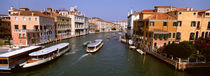 High angle view of ferries in a canal, Grand Canal, Venice, Italy by Panoramic Images