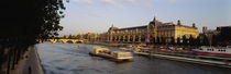 Passenger Craft In A River, Seine River, Musee D'Orsay, Paris, France by Panoramic Images