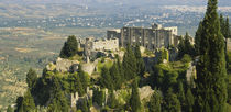 High angle view of ruined buildings on a hilltop, Mystras, Peloponnese, Greece by Panoramic Images