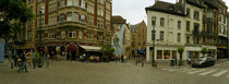 Buildings in a city, Lombard Street, Plattesteen, Brussels, Belgium by Panoramic Images