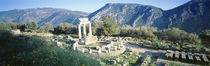 Greece, Delphi, The Tholos, Ruins of the ancient monument von Panoramic Images