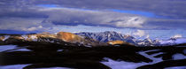 Clouds over snowcapped mountains, Fjallabak, Central Highlands, Iceland by Panoramic Images