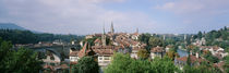 Aare River & skyline Bern Switzerland von Panoramic Images