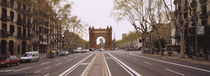 Road passing through an archway, Arc De Triomf, Barcelona, Catalonia, Spain von Panoramic Images