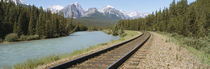 Railroad Tracks Bow River Alberta Canada by Panoramic Images