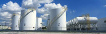 Storage tanks in a factory, Miami, Florida, USA by Panoramic Images