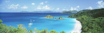 Ocean, Beach, Water, Trunk Bay, St John, Virgin Islands, West Indies by Panoramic Images