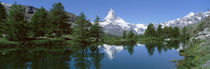 Riffelsee Lake, Pennine Alps, Zermatt, Valley, Switzerland von Panoramic Images
