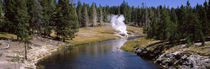 Geothermal vent on a riverbank, Yellowstone National Park, Wyoming, USA von Panoramic Images