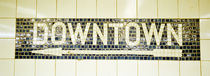 USA, New York City, subway sign by Panoramic Images