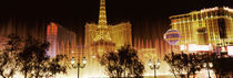 Hotels in a city lit up at night, The Strip, Las Vegas, Nevada, USA von Panoramic Images